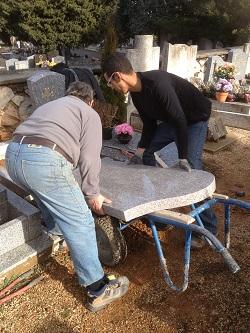 réalisation de monument funéraire